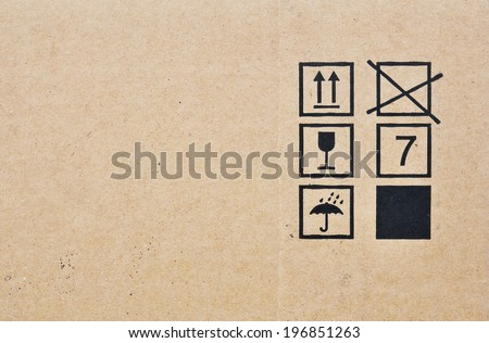 sign on brown box background - stock photo