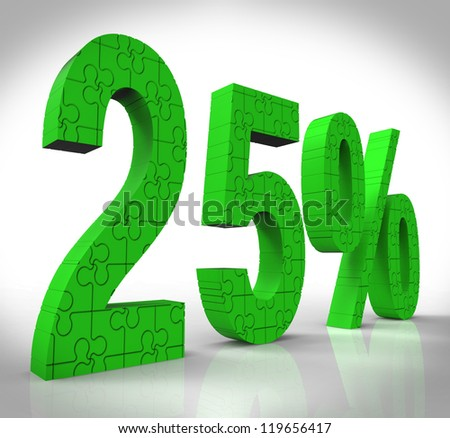 25 Sign Showing Markdown Price And Closeout - stock photo