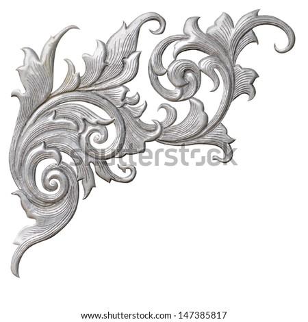 silver Pattern Thailand - stock photo