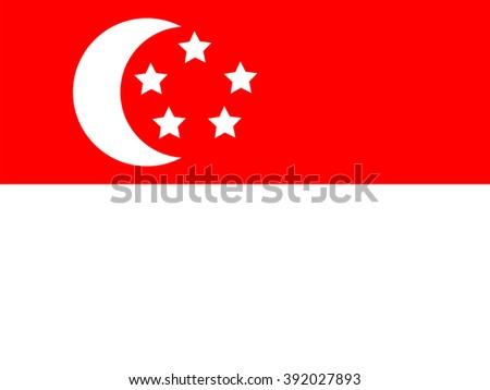 Singapore flag - stock photo
