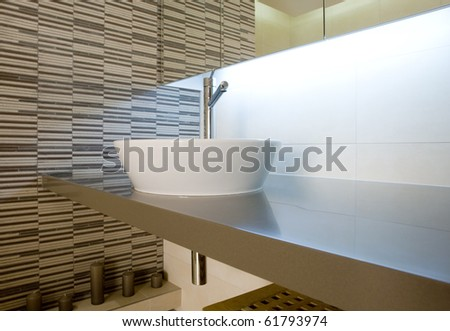 sink in a bathroom - stock photo