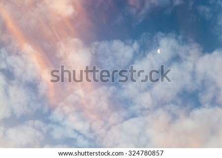 sky with clouds, photographed during the dawn sun. a variety of colors in the sky - stock photo