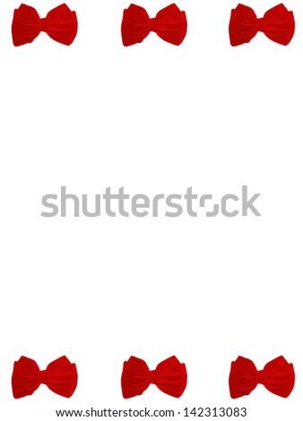 6 small bow ties card - stock photo