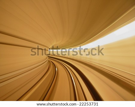 speed concept, tunnel - stock photo