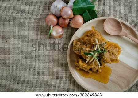 Spices Curry food cooked with herbs - stock photo