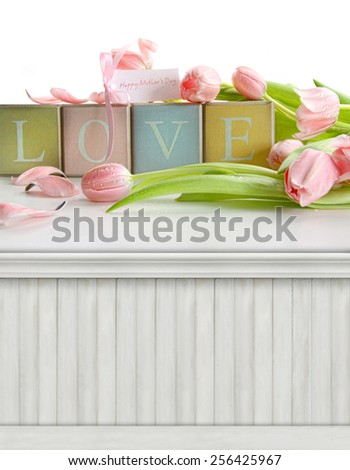 Spring, Mother's day background/backdrop - stock photo