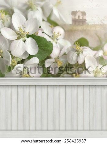 Spring wall background/backdrop - stock photo