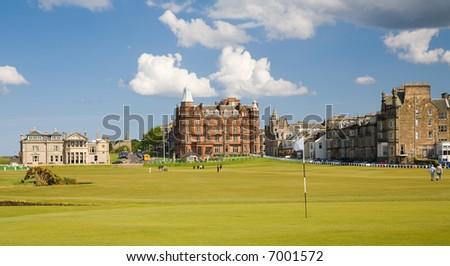 1st Hole at St Andrews, Scotland - stock photo