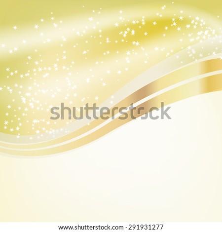 stars flowing over golden background. raster version - stock photo