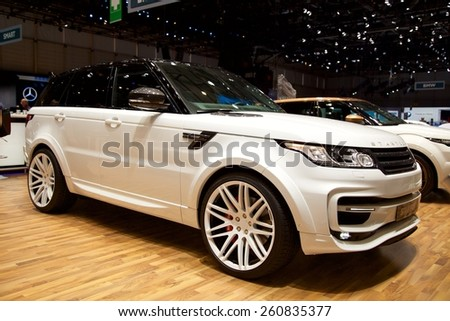2015 Startech Range Rover Sport presented the 85th International Geneva Motor Show on March 3, 2015 in Palexpo, Geneva, Switzerland - stock photo