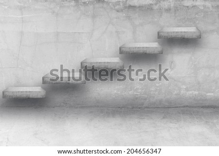 stepping up adder concrete idea concept for success and growth business - stock photo