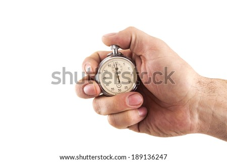 Stopwatch in hand - stock photo