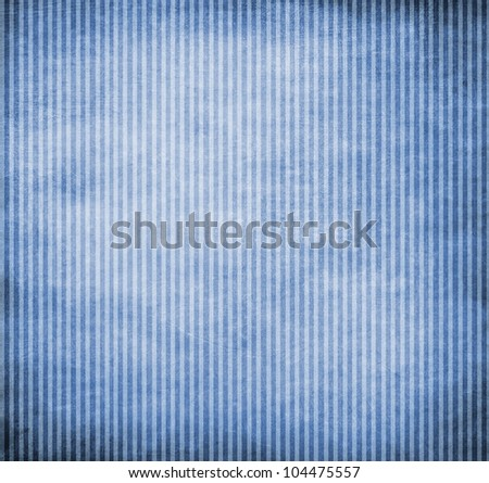 Striped background, blue paper texture with stripes - stock photo