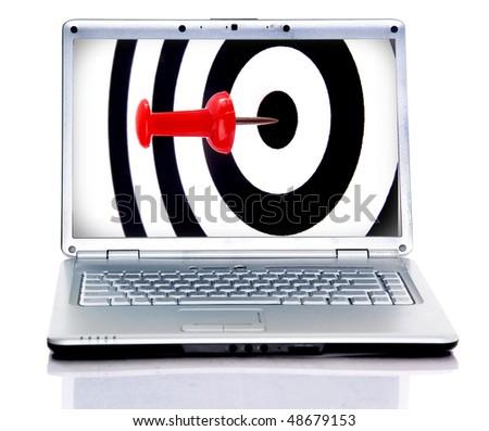 Success target in laptop - stock photo