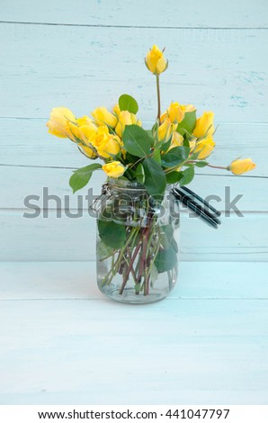 summer flowers and roses  - stock photo