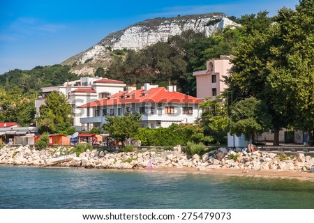 Summer landscape of Balchik, Coast of Black Sea, Varna region, Bulgaria - stock photo