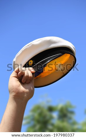 Swedish graduation hat - stock photo