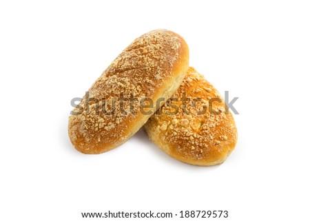 Sweet buns on white background  - stock photo