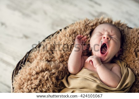sweet newborn baby sleepy baby 