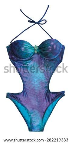 swimsuit isolated on white background  - stock photo