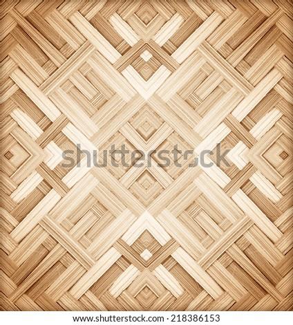 Texture of bamboo wall handmade background - stock photo