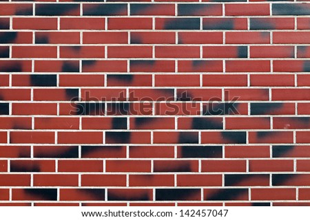 Texture tiles, imitating a brick wall - stock photo