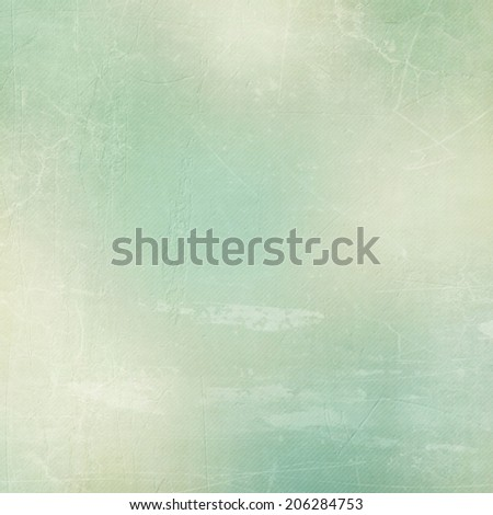 Textured paper background in green, grey  and blue - stock photo