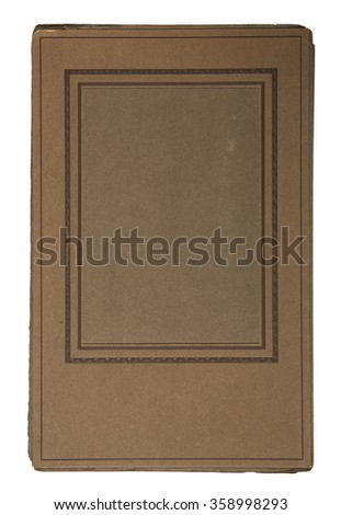 19th century cardboard picture frame - stock photo