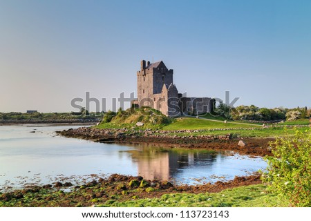 16th Century Dunguaire castle in west Ireland - stock photo