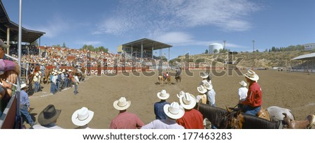 75th Ellensburg Rodeo, Labor Day, Ellensburg, Washington - stock photo