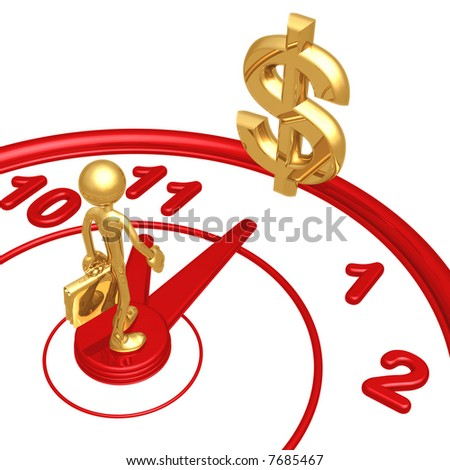 11th Hour Dollar - stock photo