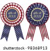 4th July Ribbon - stock photo