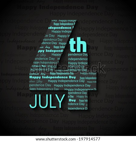 4th of July, Independence Day of American abstract background Illustration... - stock photo