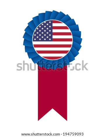 4th of July rosette. Vector available. - stock photo