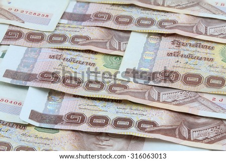 1000 Thai banknote background,macro shot. - stock photo