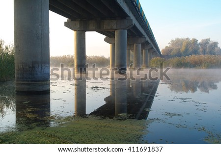 The bridge over the river - stock photo
