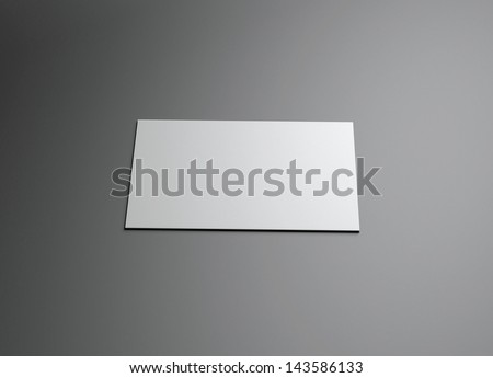 : The 3d single name card scene could be fit with any name card design,Is the best for promotion of company brand image. - stock photo