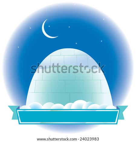 the house from snow  under the star sky. a vector illustration - stock photo