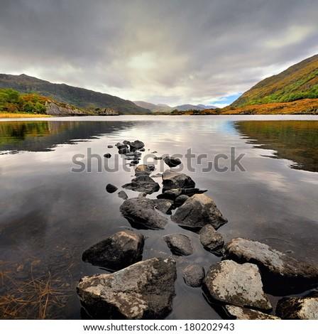 The Irish landscape, Ireland - stock photo