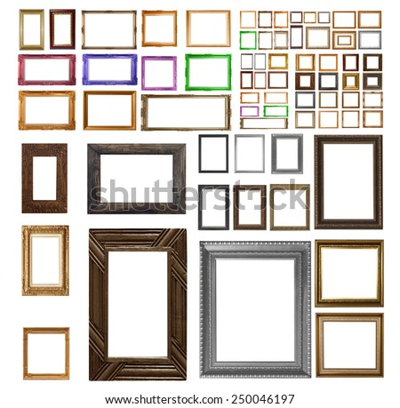 The kit includes frame isolated on white background. - stock photo