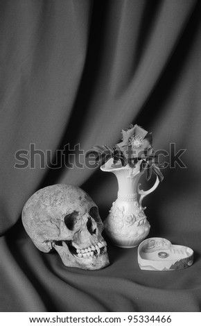 3. The Lover - From the series 'The Seven Ages of Skull', images based on a monologue from William Shakespeare's play 'As You Like It'. - stock photo