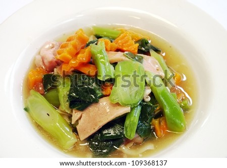 The noodles topping. - stock photo