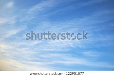 the photographed sky when on it there were various clouds - stock photo