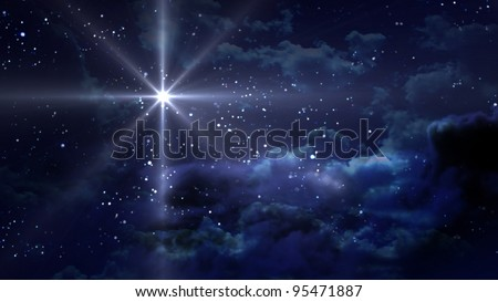 the starry night - stock photo