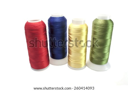 threads in spools for sewing  - stock photo