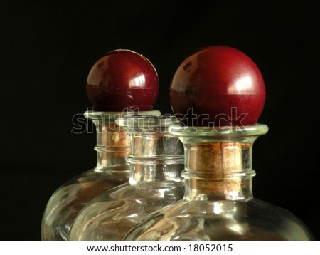 three wine bottles - stock photo