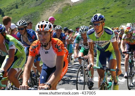 2005 Tour de France near Axe-les-Thermes - stock photo