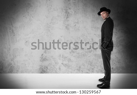 Traditional Businessman with copyspace - stock photo