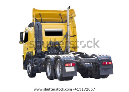 Trailer for Delivery transport isolated on white background with clipping path - stock photo