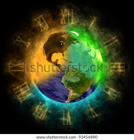 2012 - Transformation of consciousness on Earth - America - stock photo